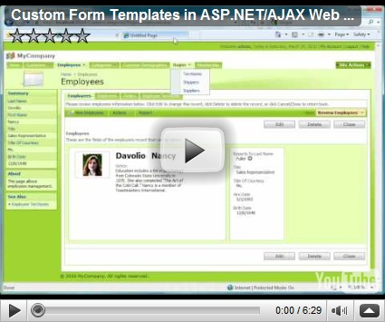 Free download program free asp net form templates for Aspx net templates