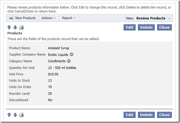 Form view allows  to start editing, delete, create new, or import a batch of records.