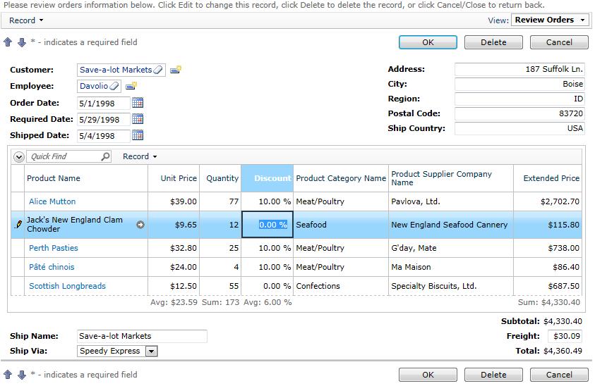 Details Form Template Order Form With Order Details