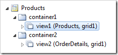 Master data view on the 'Products' page displayed in the Project Explorer