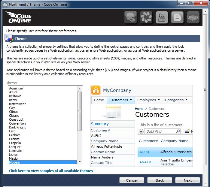 Code On Time: Sample Applications / Northwind (SQL Server)