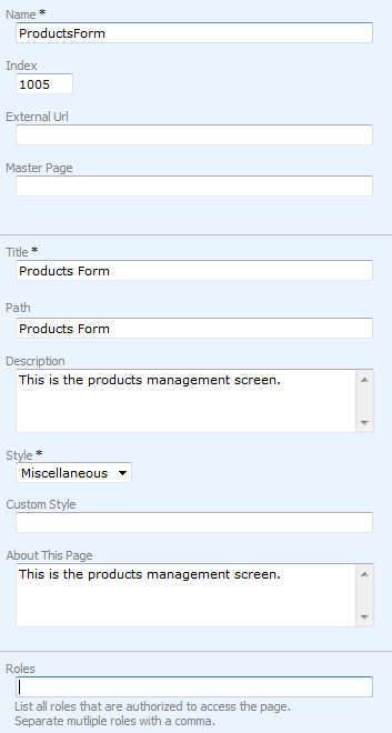 User interface form templates creating a form template for User creation form template