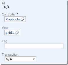 New 'Products' Data View being added to Products Form page in Code On Time designer
