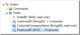 'EmployeeID' field from Orders controller in Code On Time Project Explorer