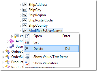 Delete ModifiedByUserName data field from edit form of Orders controller.