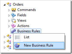 New Business Rule for Orders controller.
