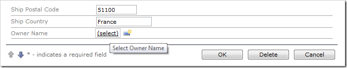 Owner Name field is now a User Name Lookup.