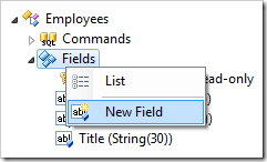 Create New Field in Employees controller.