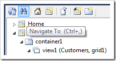 Navigate To icon on the Project Explorer toolbar.