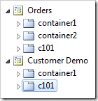 Duplicate of 'c101' container placed at the end of Customer Demo page.