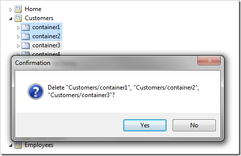 Multiple containers deleted.