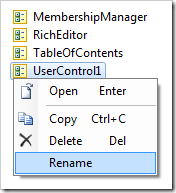 Rename context menu option on UserControl1.