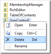 Delete context menu option on UserControl1.