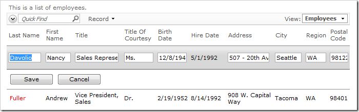 When logged in as user, the Hire Date Field is not editable.