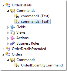 Command dropped and renamed under OrderDetails controller.