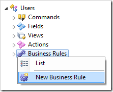 Creating a new business rule for Users controller.