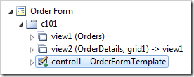 Control added to the Order Form page.