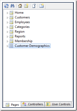 'Customer Demographics' page is now excluded from the menu.