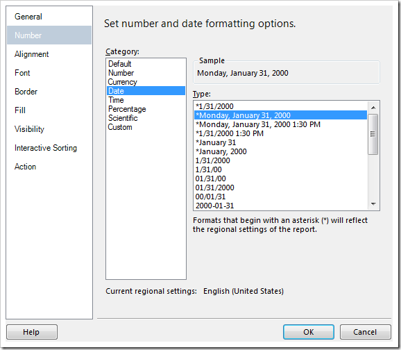 Configuring a text box as a date field.