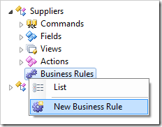 New business rule for Suppliers controller.