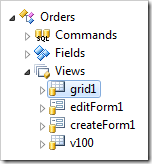 View 'grid1' of Orders controller.
