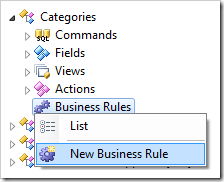 Creating a new business rule for Categories controller.