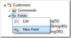 Creating a new field in Customers controller.