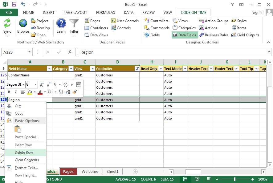 Code On Time: Development / Tools for Excel / Overview