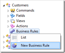 Adding a new business rule to Customers controller.