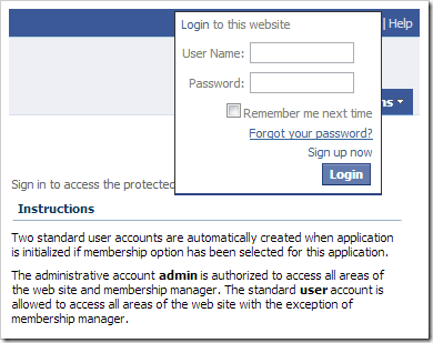 The Forgot your password? link access the Password Recovery form.