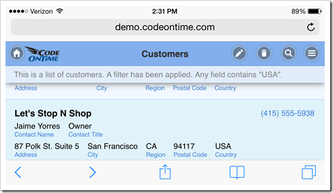 Code On Time: Touch UI / Mobile / Full Screen Web Apps