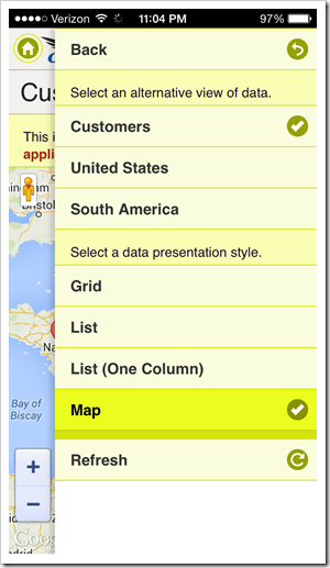 Touch UI offers end-users options that allows switch view style of data presentation.