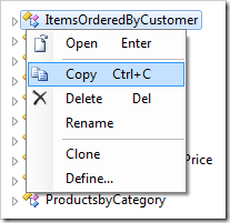 Copying the 'ItemsOrderedByCustomer' data controller.