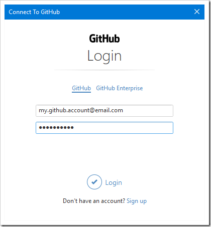 Logging into your GitHub account.
