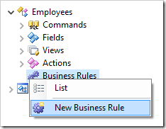 Adding a business rule to Employees controller.