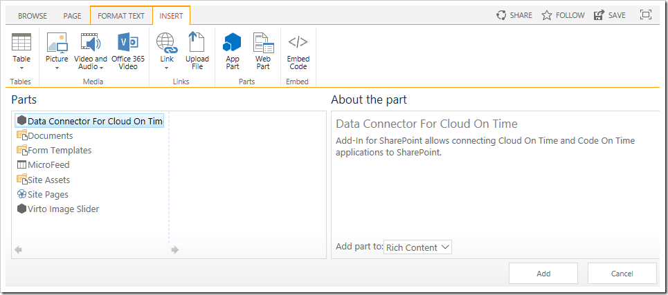 Code On Time: SharePoint / Add-In / Configuration