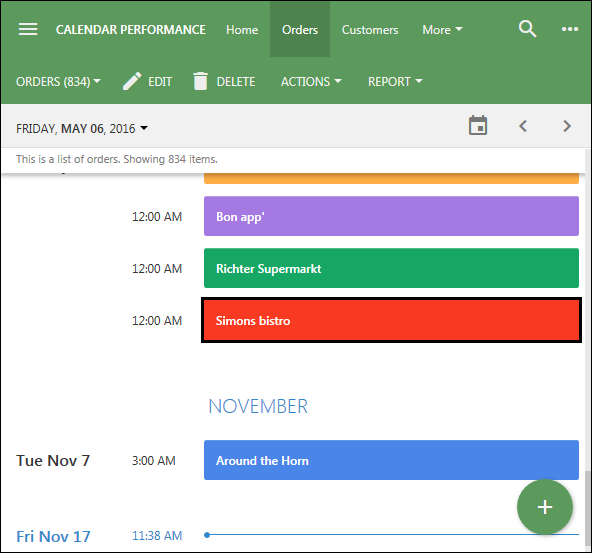 New peresentation of the Calendar view style.