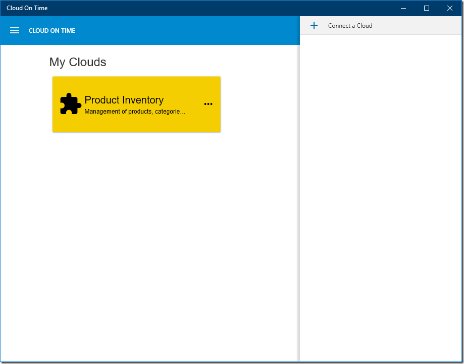 Connecting additional clouds in native Universal Windows Platform app Cloud On Time.