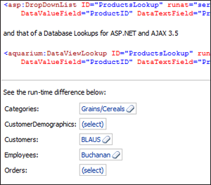 Database Lookups for ASP.NET and AJAX 3.5